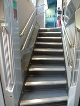 TGV Duplex:  Stairs to upper deck
