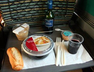 Meal bought from the TGV bar car