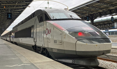 France's premier high-speed train:  The 186 mph TGV ...