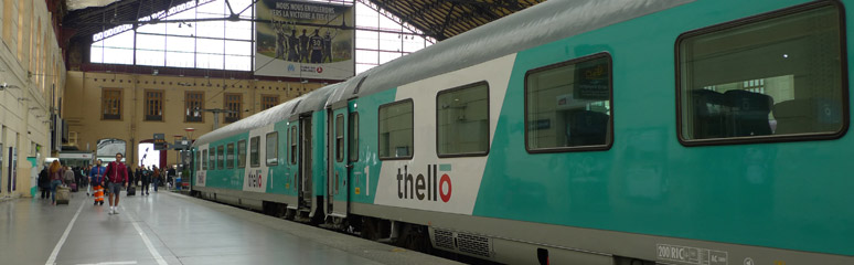 Thello train from Marseille to Milan