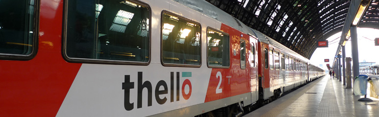 Thello trai to Nice seen at Milan Centrale
