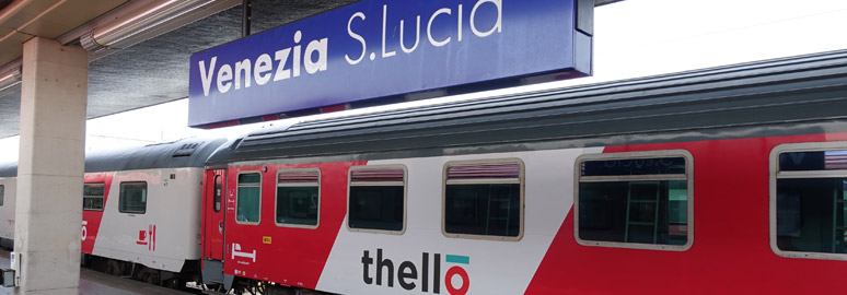 Thello train from Paris, arrived in Venice