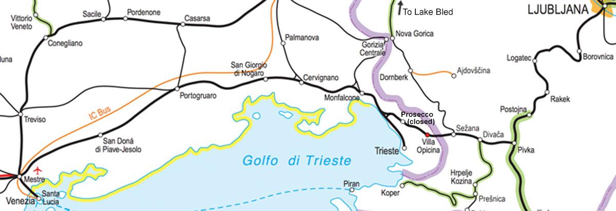 Venice to Ljubljana by train for €22, Venice to Zagreb for €40
