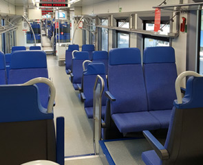 2nd class seats on the train from Venice to Ljubljana