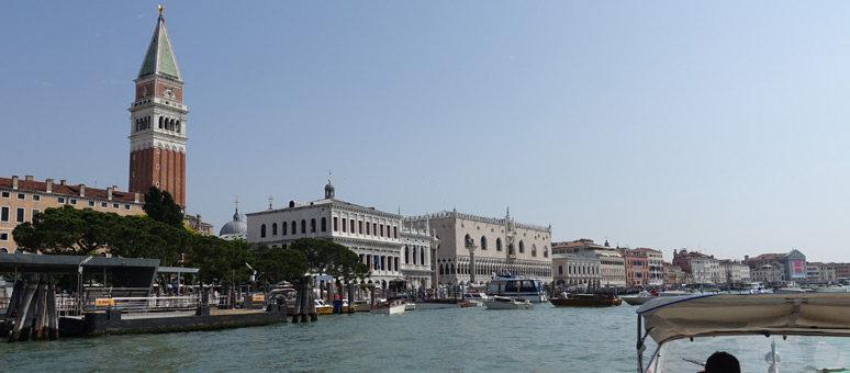 Arriving in Venice San Marco by water taxi