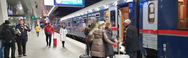 Vienna to Berlin Nightjet sleeper train