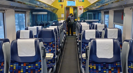 2nd class seats on the Vienna-Budapest EC train