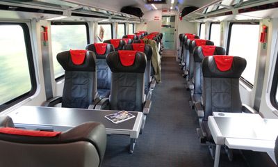 Business class on the Vienna to Venice train