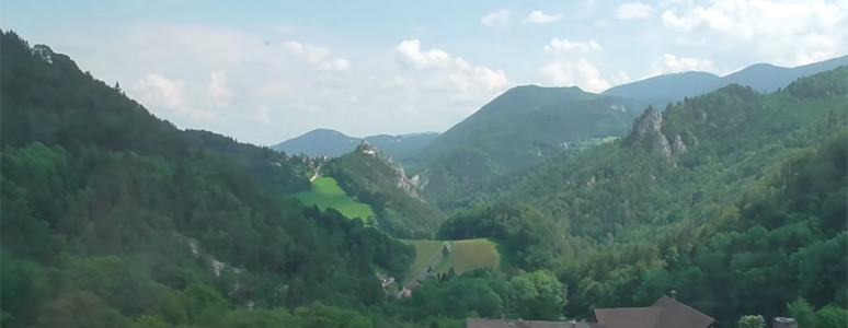 Semmering Railway scenery from the Zagreb to Vienna train