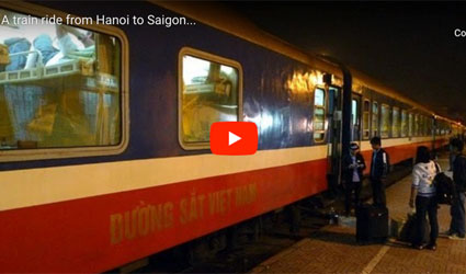 Train SE1 from Hanoi to Saigon, boarding in Hanoi