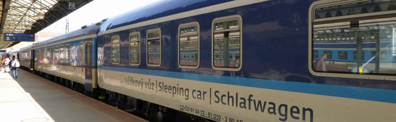 The sleeper train from Zurich to Prague